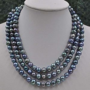 """Jewelry - 100% REAL45"""" LONG PEACOCK FRESH WATER PEARLS"""